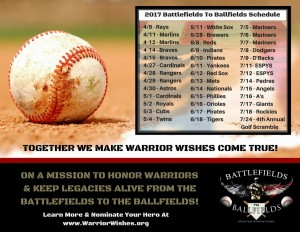 2017 Battlefields To Ballfields Schedule
