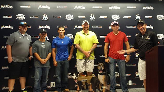 The Marlins Honor Heroes & Help Make Warrior Wishes Come True For The 2nd Straight Day!