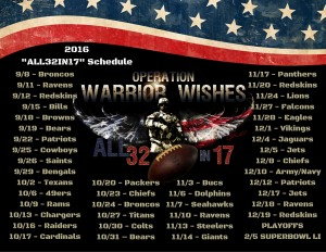 2016 ALL32IN17 Schedule