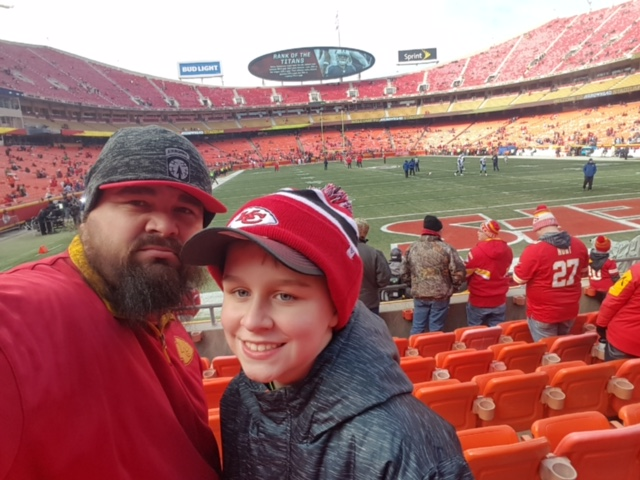 Game 51 – Warrior Wishes Come True At The Chiefs Playoff Game!