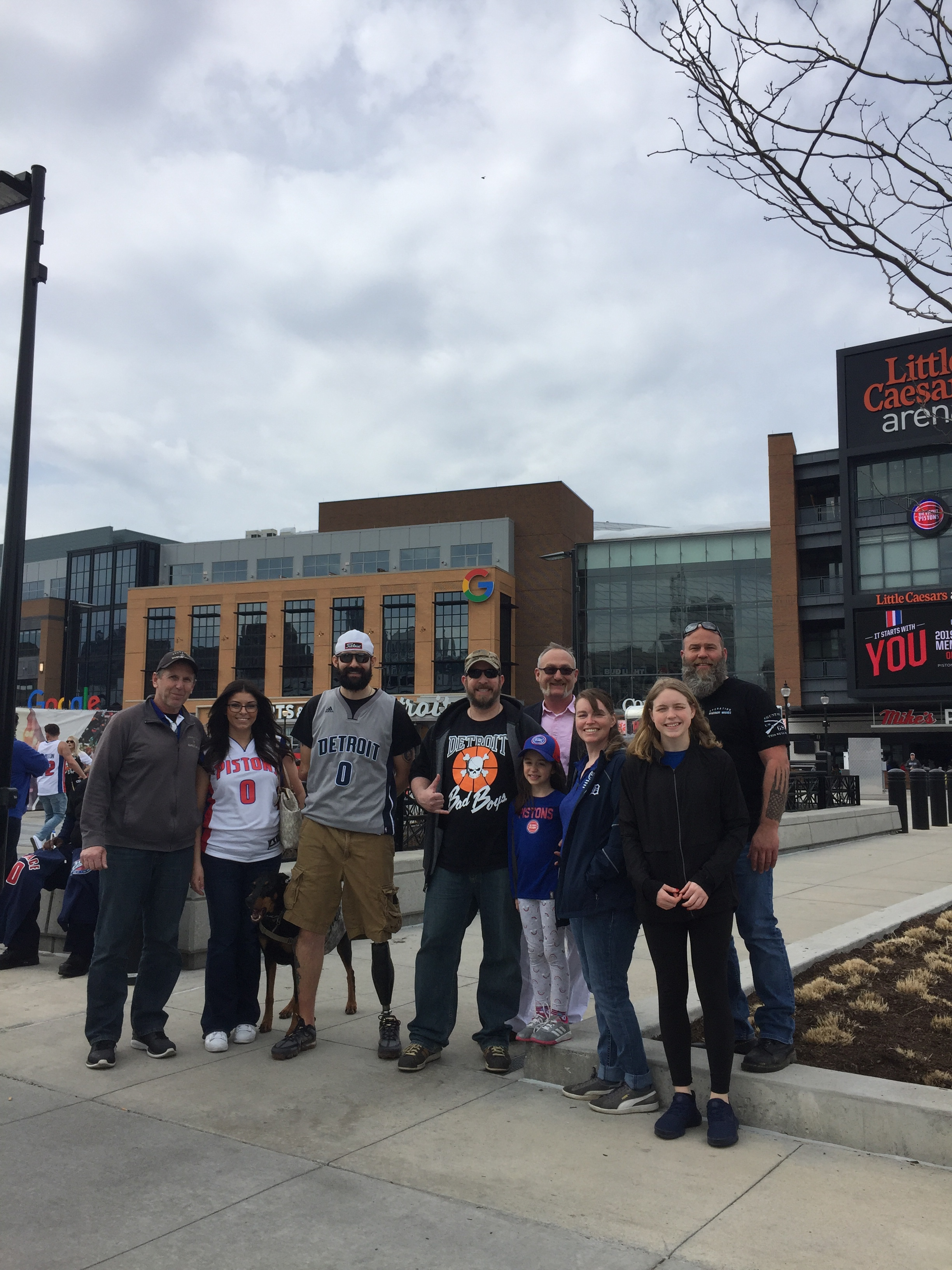 The Detroit Pistons Make Warrior Wishes Come True!