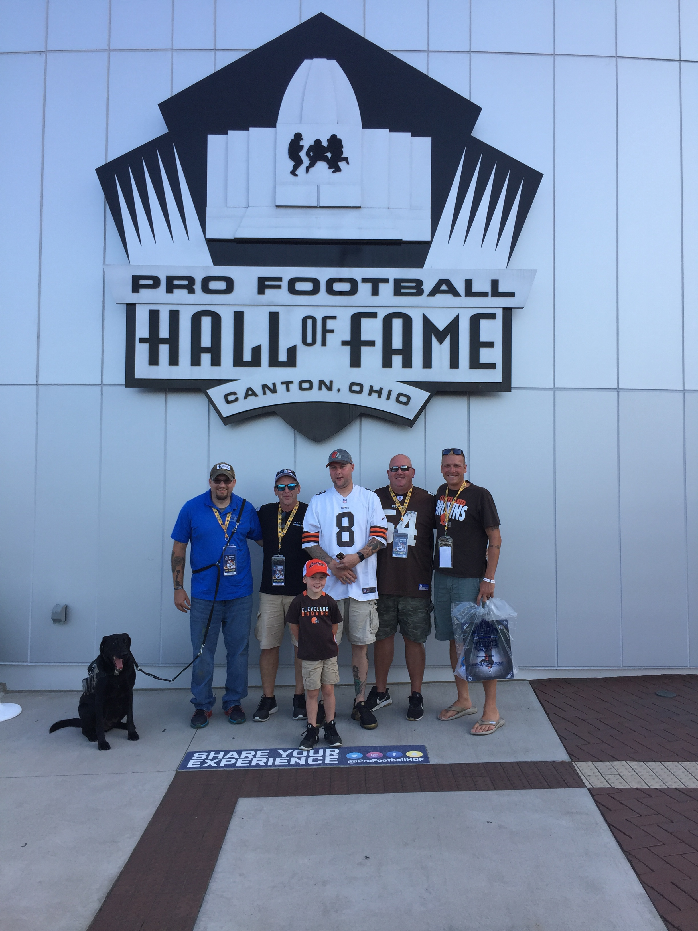 Warrior Wishes Come True at the Pro Football HOF!