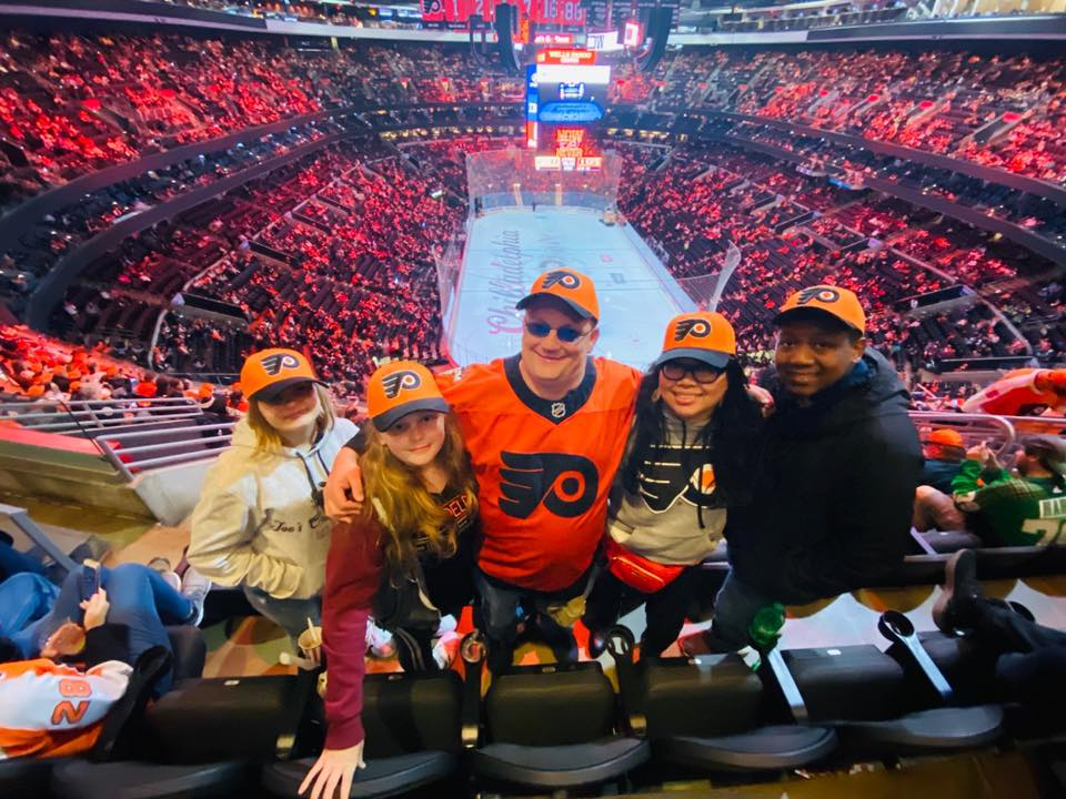 Warrior Wishes Come True at the Flyers game!