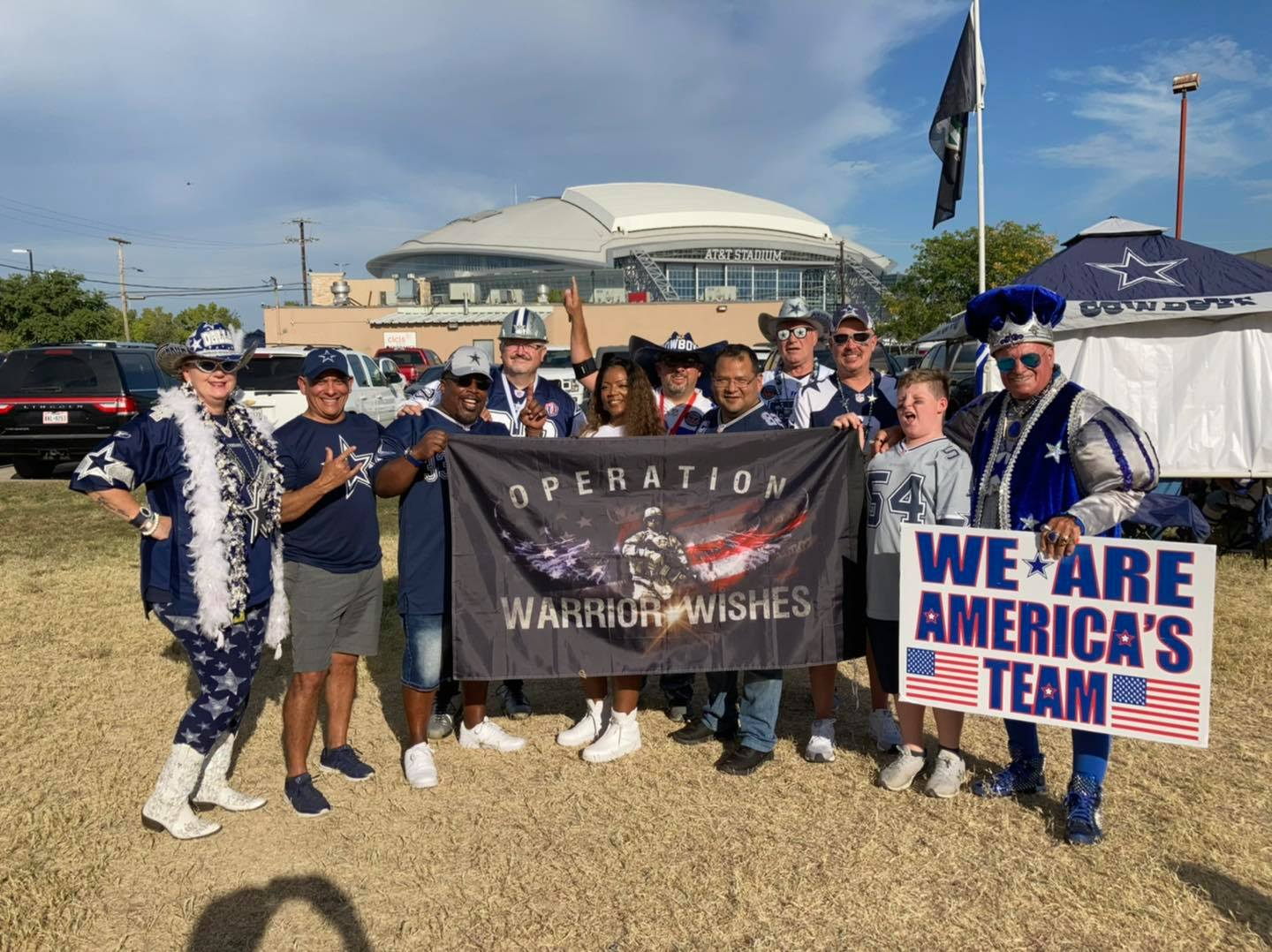 Wish Granted for 27+ Year Warrior at Dallas Cowboys game.
