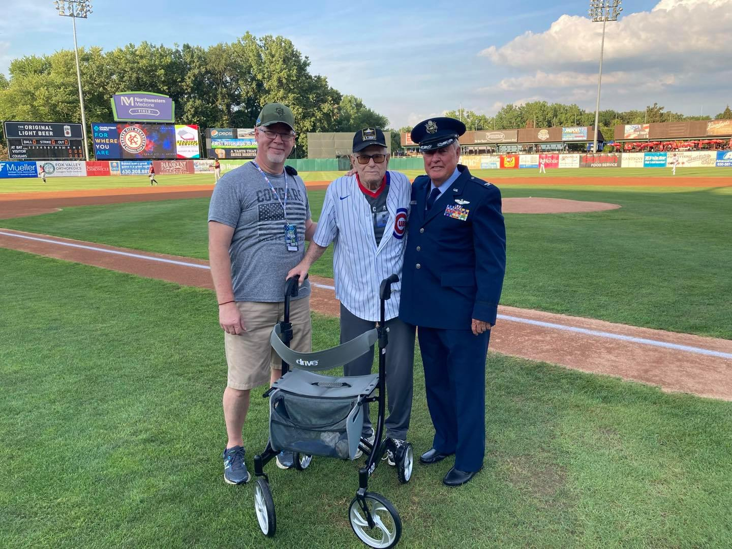 Kane County Cougars Honor WWII Hero.